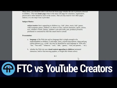 Youtube Creators: The FTC Is Coming to Get You!