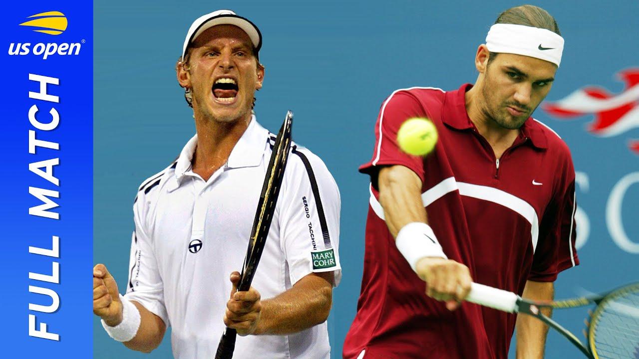 David Nalbandian vs Roger Federer in stunning comeback! | US Open 2003 Round 4