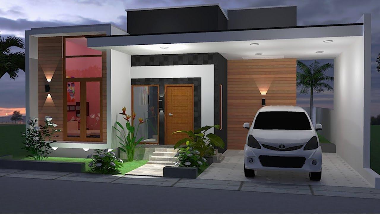 Desain Rumah Lahan 10 X 12 Meter Minimalis Modern Sketchup Youtube