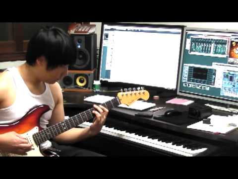 the king of fighters 97 -kyo theme esaka forever- play guitar & MR