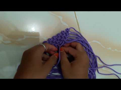 Cara Membuat Tas Tali Kur Motif Ombak dalam 5 menit