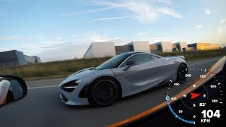 McLaren 720S vs. McLaren 675LT on the Autobahn!