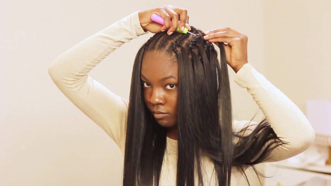 Very Detailed Straight Crochet Braids Tutorial Ft Italian Perm Yaki Hair Youtube