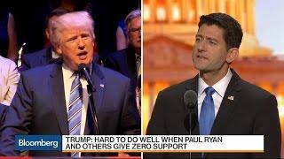 Donald Trump: Paul Ryan Is 'Weak and Ineffective'