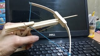 Generation 3 - mini bow that shoots with trigger from popsicle sticks