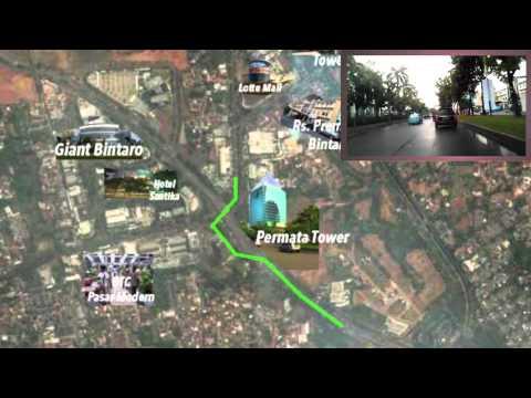 Bintaro Sektor 6 Cut Nyak Dien Rumah dijual 2016 - Roadmap TBJ