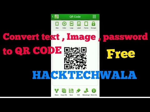 CONVERT any DATA into QR CODE