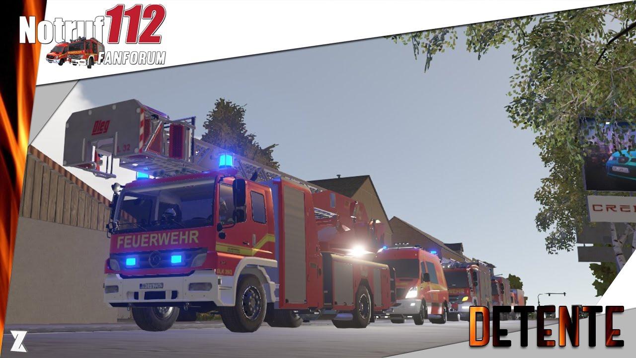 emergency call notruf 112 le simulateur de pompiers incendie de camion youtube. Black Bedroom Furniture Sets. Home Design Ideas