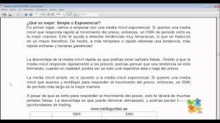 Curso de Forex - 30 de 99 - Media Móvil Exponencial (EMA)