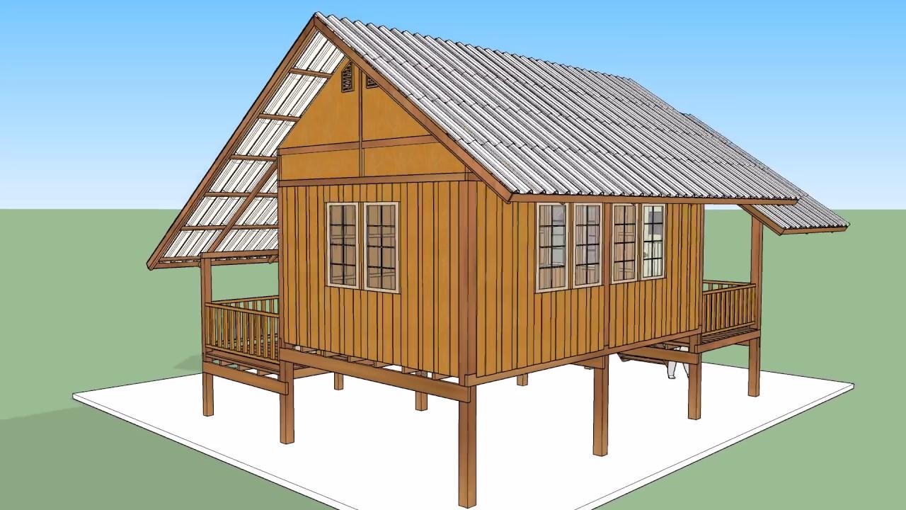 บ้านไม้หลังเล็ก    ( No. 002 )    Sketchup by :  i. pakdee