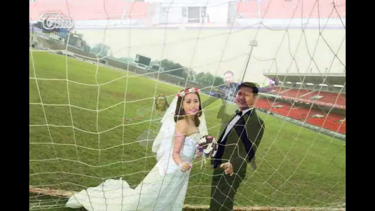 Say mê với bộ ảnh cưới của cặp đôi cuồng bóng đá