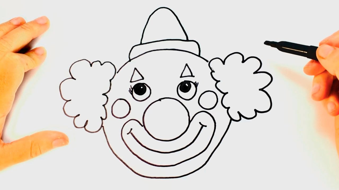 how to draw a clown for kids clown drawing lesson step by step youtube [ 1280 x 720 Pixel ]