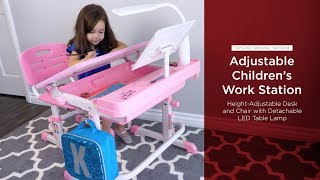 SKY2741 SKY2742 SKY3499 Adjustable Children's Work Station
