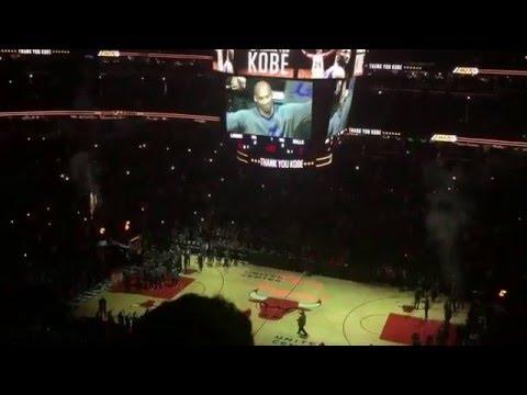 Kobe Bryant last game vs Chicago Bulls United Center Kobe tribute