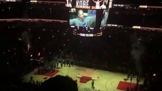 Kobe Bryant last game vs Chicago Bulls United Center Kobe tribute