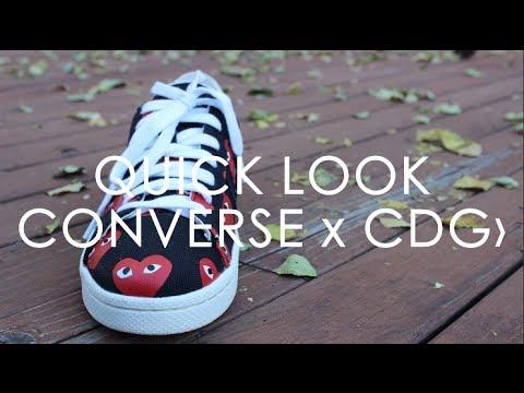 f3deb8db3d7f Converse x Comme Des Garcons Low Quick Look - YouTube