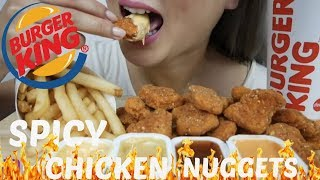 Asmr Burger King Spicy Chicken Nuggets No Talking Eating Sounds N E Lets Eat
