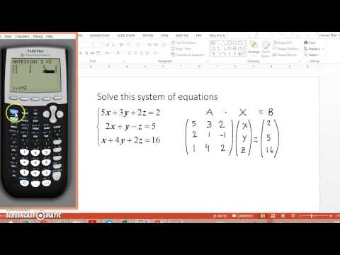 Using The TI-84 To Solve Systems Of Equations With 3 Variables