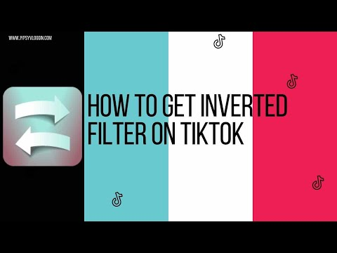 How to get inverted filter on tiktok