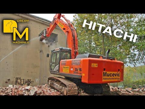 HITACHI ZAXIS 350 BAGGER BUNKER ABRISS #1 MUCEVIC ABBRUCH