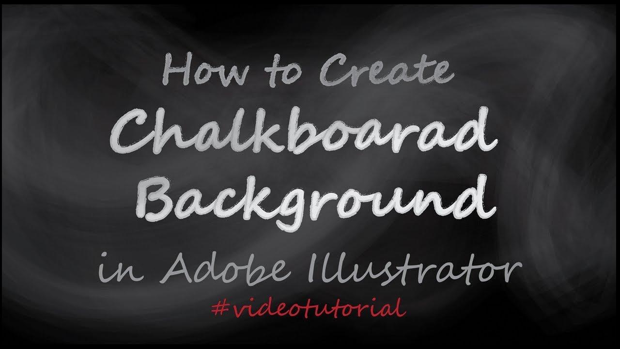 how to create chalkboard