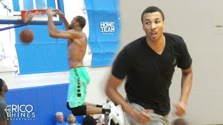Rudy Gobert NBA Defensive POY & Dante Exum at Rico Hines UCLA Run! Malik Beasley, Kevon Looney