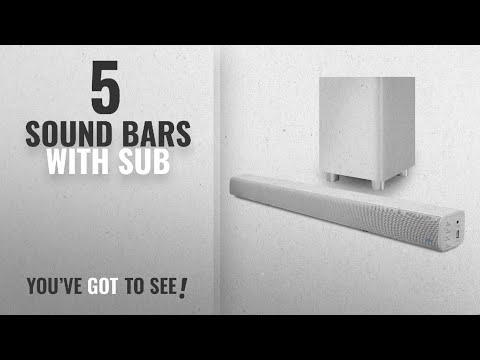Top 5 Sound Bars With Sub [2018]: Pure Acoustics Wireless Surround Bar and Subwoofer (White)