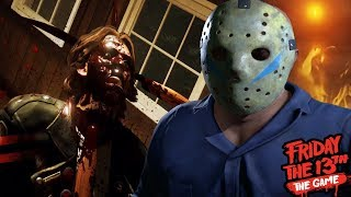 PART 5 JASON ATTACKS WITH A NEW WEAPON!    Friday The 13th The Game (NEW UPDATE Part 5 Jason)