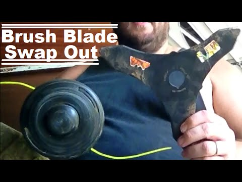 Diy how to turn your weed trimmer head into a brush cutter blade diy how to turn your weed trimmer head into a brush cutter blade to clear land and property greentooth Choice Image