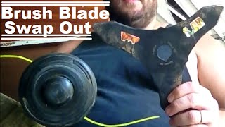 DIY How To Turn Your Weed Trimmer Head Into A Brush Cutter Blade To Clear Land And Property