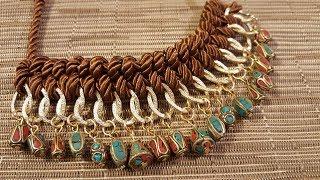 collar tejido y con cuentas estilo tibetano que me envio la tienda beebeecraft