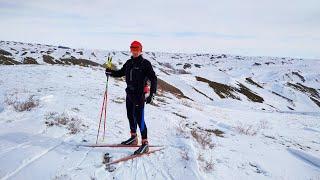 Лыжная тренировка в Уральских горах. 30 км, набор высоты 400м.