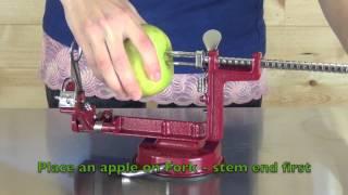 Victorio Apple Peeler Slicer VKP1010 Suction Base VKP1011 Clamp Base Demonstration