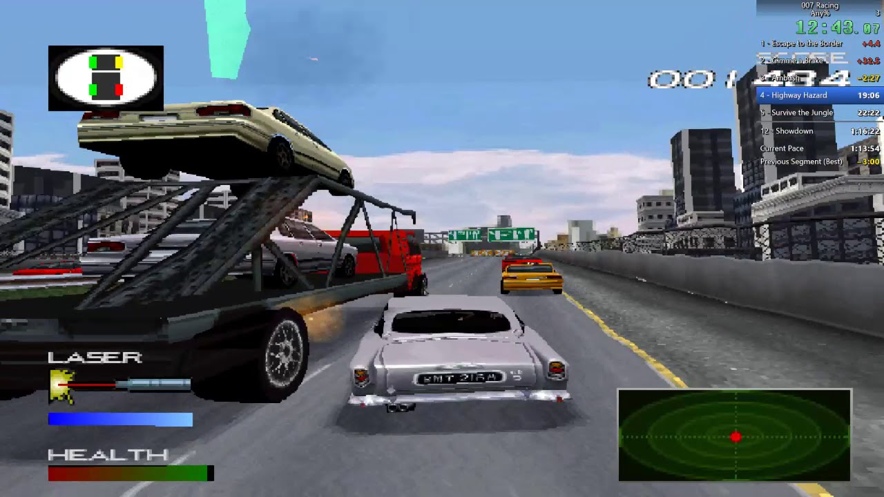007 Racing Playstation 1-Aston Martin 007 game!