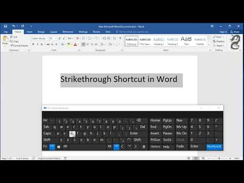 Strikethrough Shortcut Key In Word