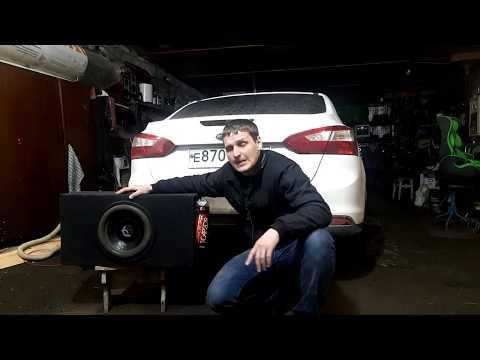 Установка саба в Ford Focus 3. Подключение к штатной магнитоле. EVO коврик в багажник.