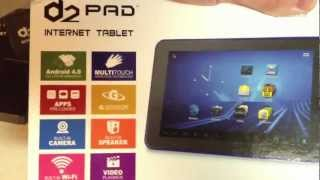 D2 Pad Unboxing. Internet Tablet