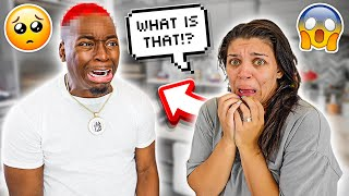 THE REVEAL OF DAMIEN'S NEW HAIRLINE **SHE FREAKED OUT**