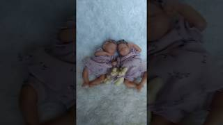 Silicone baby  with cloth body 20 см