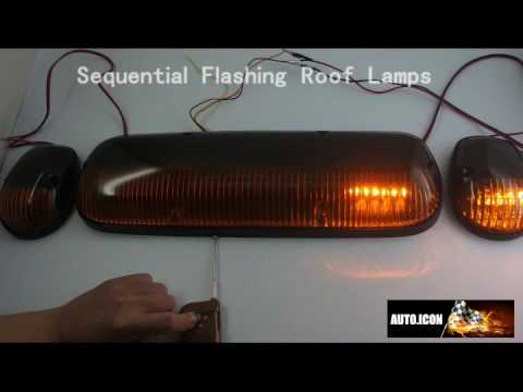 Wireless Control Sequential Flashing Cab Roof Marker