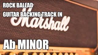 Rock Ballad Guitar Backing Track In Ab Minor