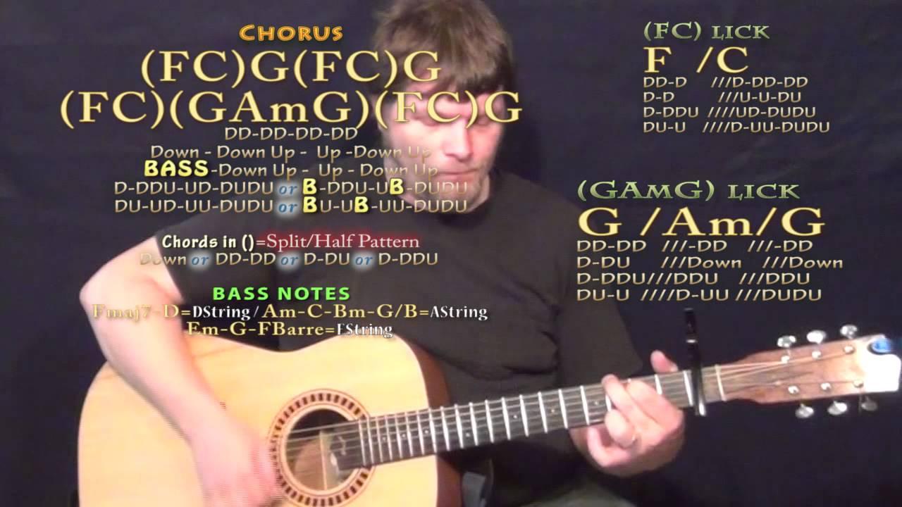 One Hell Of An Amen Brantley Gilbert Guitar Lesson Chord Chart