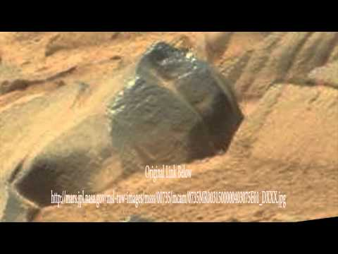 UFO Sightings UFO Hunter Discovers Ancient Humanoid Carving On Mars? 2015
