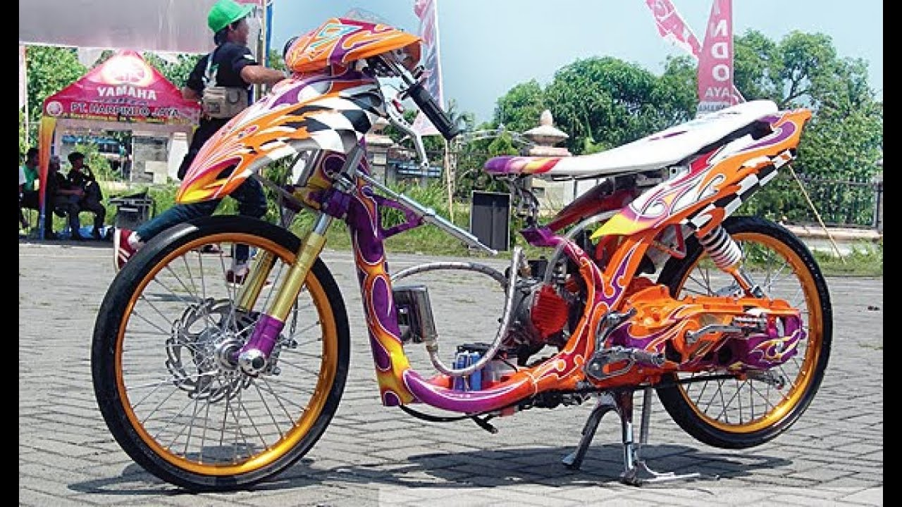 Motor trend modifikasi video modifikasi motor yamaha mio sporty drag style terbaru