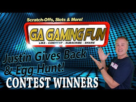 "Contest Winners: ""Justin Gives Back"" & ""Easter Egg Hunt""! WHO GOT SOME MONEY???"