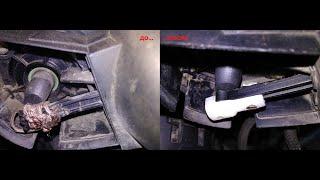 Ремонт тяги вакуумного привода впускного коллектора VW Passat 3B5 ADR 1,8