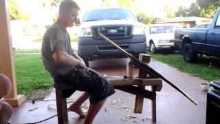Homemade Shaving Horse (bowyer Tools)