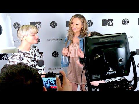 GETTING INTERVIEWED BY MTV AT BEAUTYCON NYC!   HeyItsSarai