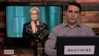 Repeat youtube video Ben Shapiro Deconstructs Meryl Streep's Golden Globes Speech