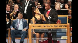 Ariana Grande sings, sparks controversy at Aretha Franklin's funeral
